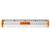 Książka ePub Linijka aluminiowa Tetis 20 cm uchwyt pomarańczowy - brak