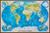 Książka ePub Świat mapa ścienna fizyczna na podkładzie 1:35 842 000 - brak