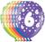 Książka ePub Balony z cyfrą 6, 30 cm, mix kolorów (5 sztuk) - brak