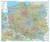 Książka ePub Polska administracyjno-drogowa mapa ścienna - naklejka 1:700 000 - brak